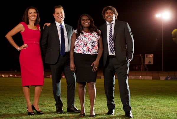 Frame from Marngrook Footy Show opening sequence.