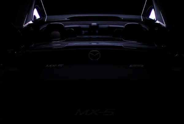 Frame from Mazda MX-5 car teaser video.
