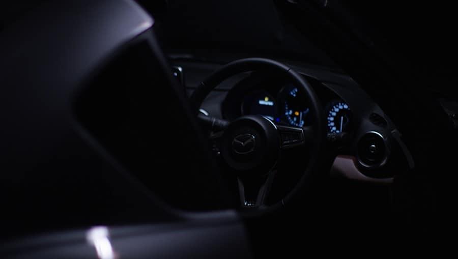 Frame from Mazda MX-5 car teaser video.