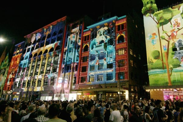 White Night Melbourne Projections