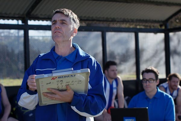 Scene from Footy Then Vs Now branded sports comedy video series we filmed for Sportsbet.
