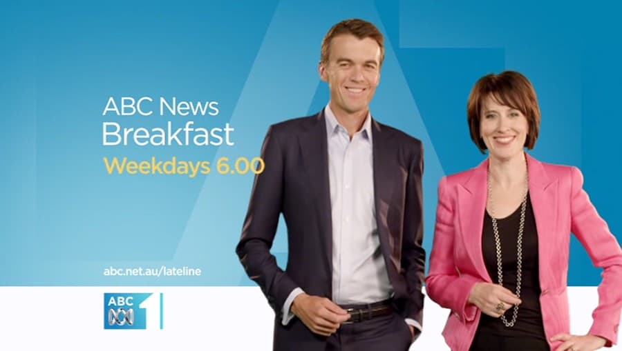 Frame from ABC News Breakfast show promo.