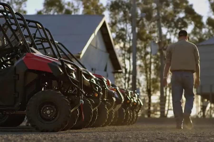 Still from Honda Motorcycles ATV commercial filmed by Luminaire Pictures.