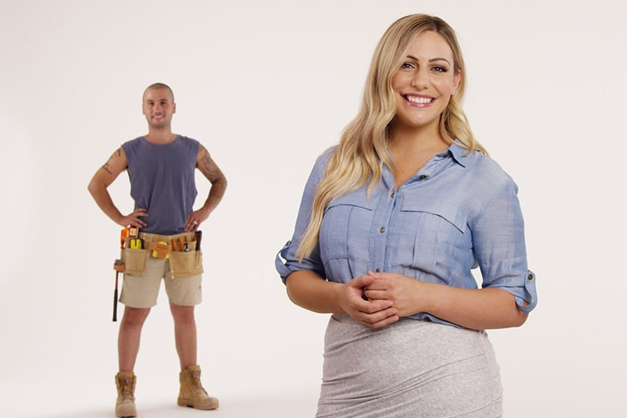Frame from Love Shack TV show promo.