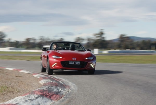 Frame from Mazda MX-5 car launch video.