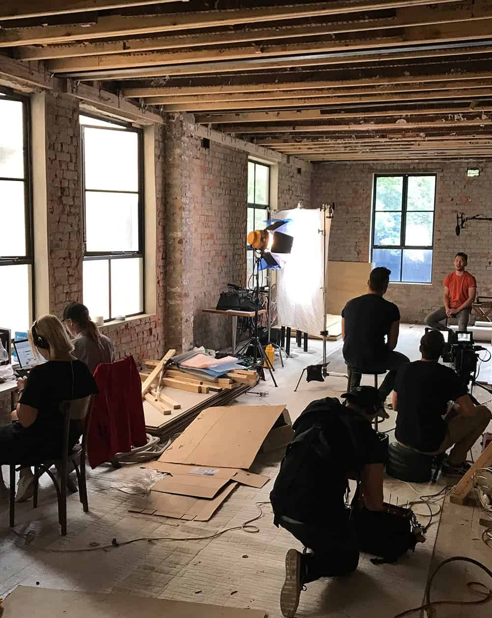 Melbourne video production company - Luminaire Pictures - behind the scenes
