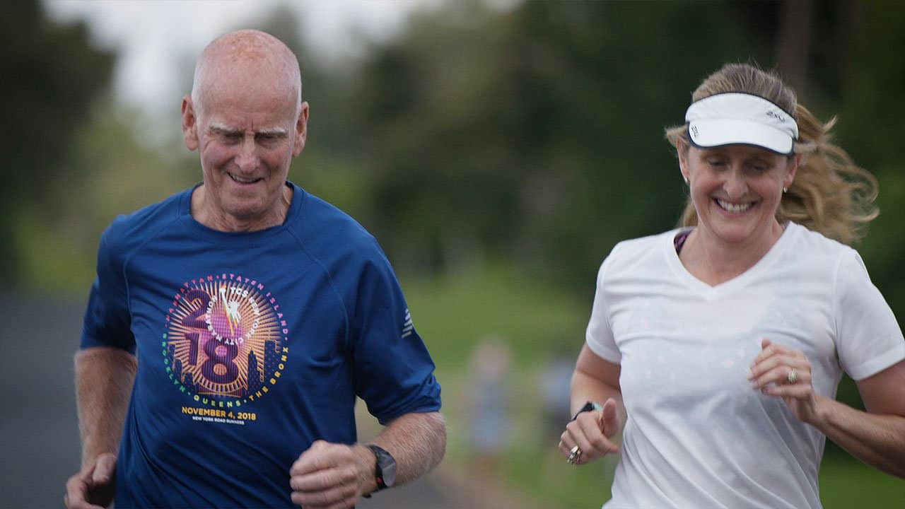 Peter O'Brien training for the World Marathon Majors