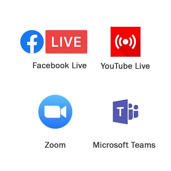 Live Streaming Logos 1
